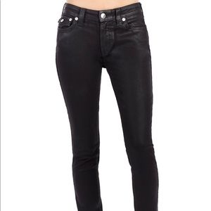 True Religion Curvy Coated Skinny Jeans